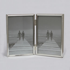Leenarts 10x15 cm tweeluik parel smal fotolijst silverplated 304.02.10