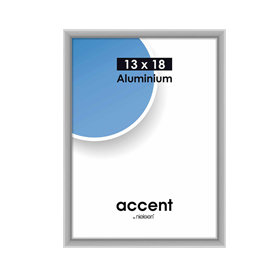 Nielsen Fotolijst aluminium Accent Mat Zilver 13x18 cm